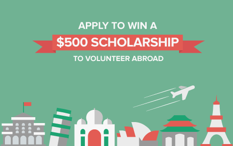 Volunteer abroad scholarship